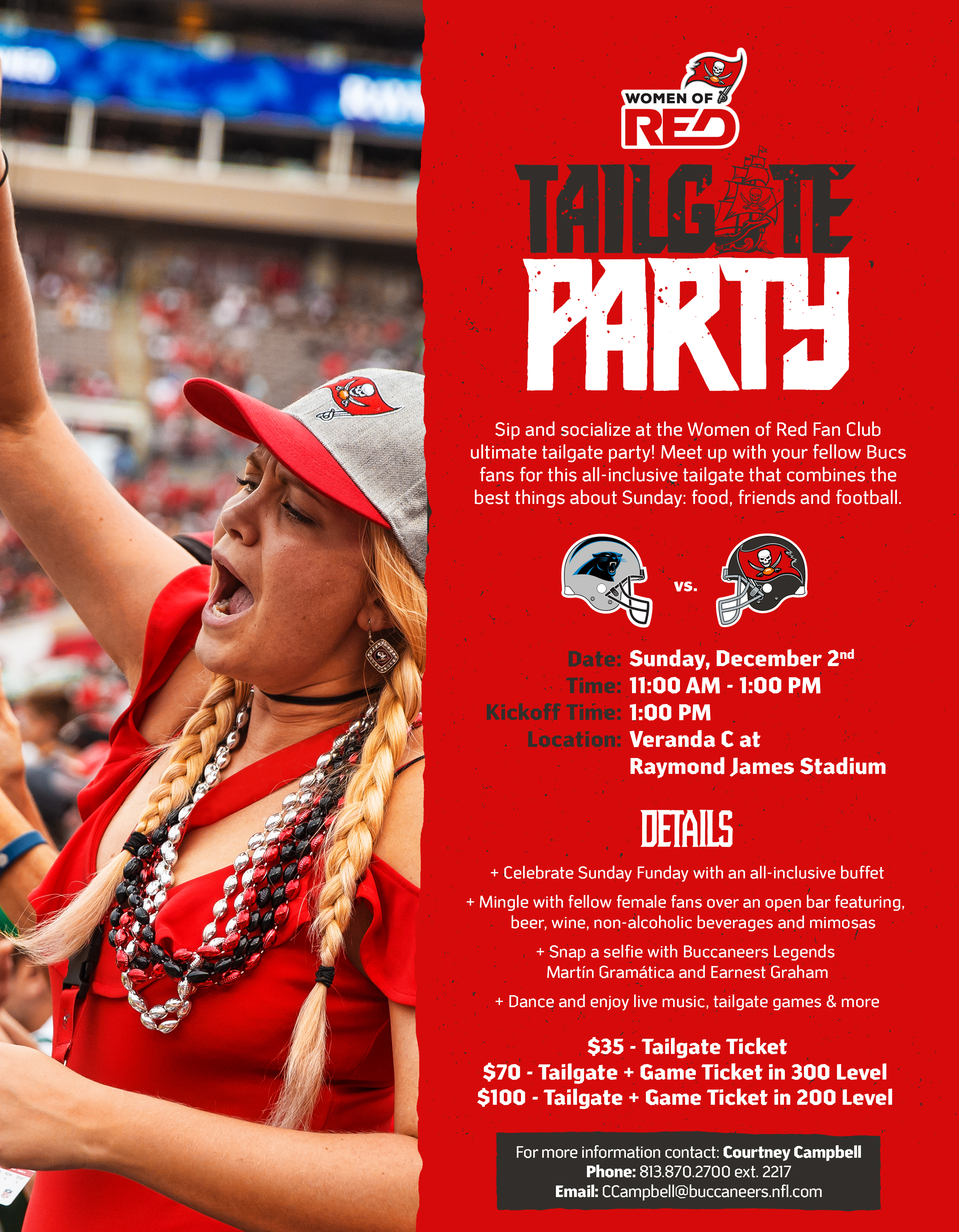 bb1d7d17 Working Women of Tampa Bay - Women of Red Tailgate Party!!!